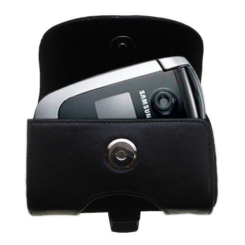 Gürtel Ledertasche Schwarz mit abnehmbaren Clip und Gürtelschlaufe für den Samsung SGH-X660