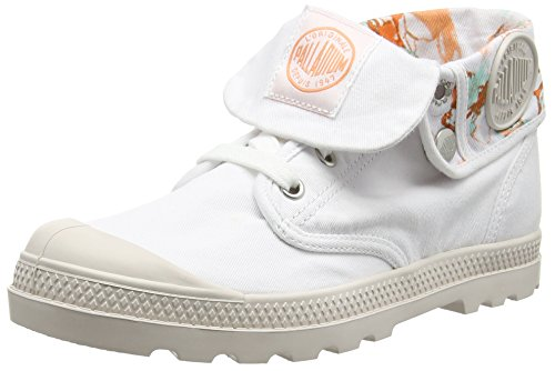Palladium Damen Baggy Low Lp Tw P Combat Boots Weiß