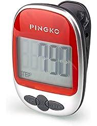 PINGKO Walking Schrittzähler genau Track Schritte tragbar Sport Schrittzähler Schritt/Distanz/Kalorien/Zähler Fitness Tracker, Kalorien Counter