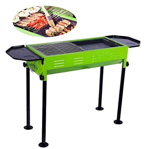 LLYY® Grill Picknickgrill, BBQ Tragbarer Klappgrill Holzkohlegrill/Edelstahl Garten Camping Barbecue 5-10 Personen Party Holzkohle BBQ