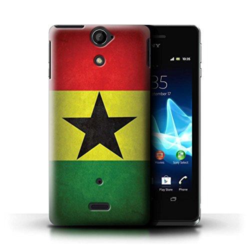 Kobalt® Imprimé Etui / Coque pour Sony Xperia V/LT25i / Uruguay/Uruguayen conception / Série Drapeau Ghana