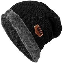Gorro de Invierno Unisex Sombrero de Punto de Lana Caliente Sombreros de  Esquí al Aire Libre 57935d53b3b