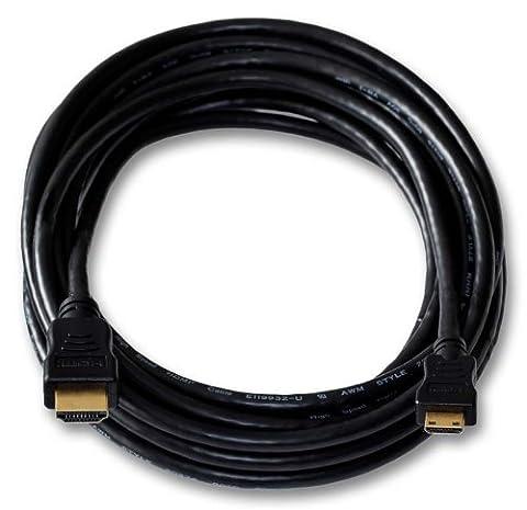 HDMI Kabel für Nikon D3100 Digitalkamera | Mini C | vergoldet | Länge 5m