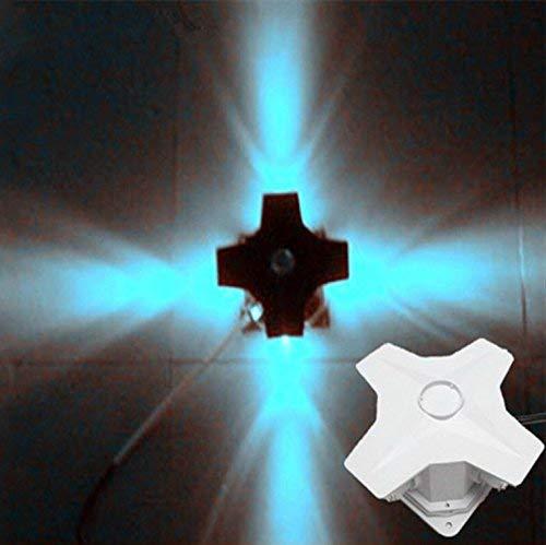 2-GTRHGTYH Bühnenbeleuchtung Cross Star LED-Leuchten Außenwandleuchte Garten dekorative Beleuchtung Bunte Punktquelle Im Freien wasserdichte Lichter Licht (Color : Lila) -