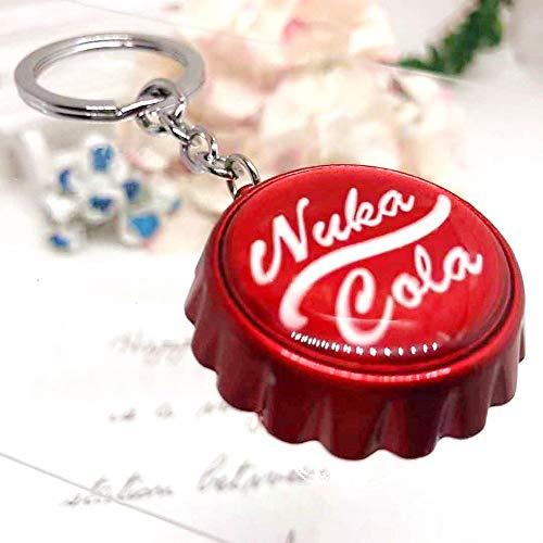 VAWAA Spiel Fallout 4 Cosplay Schlüsselanhänger Anhänger Halskette Rote Persönlichkeit Lustige Mann Frau Frau Legierung Schlüsselanhänger Schmuck Chaveiros Flaschenöffner