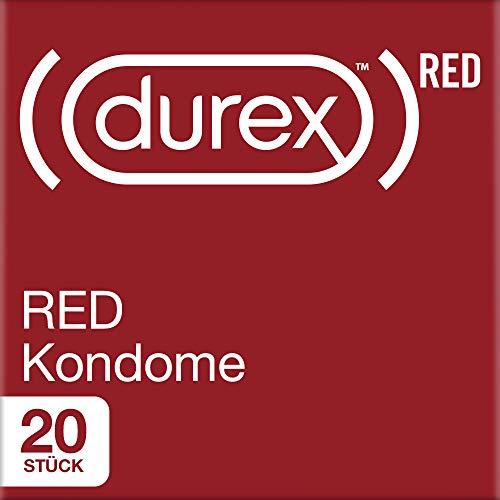 Durex RED Kondome - Kondome mit idealer Passform - Have sex, save lives - mit jedem Kauf Gutes tun - 20er Pack (1 x 20 Stück)