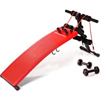 Ultrasport banc de musculation pliable 3 en 1 / Banc d'haltérophilie stable en tant qu'appareil pour abdominaux, y compris un kit d'haltères et des bandes élastiques, banc d'exercices pour femmes et hommes jusqu'à 100 kg - Banc à usage multiple pour un entraînement varié