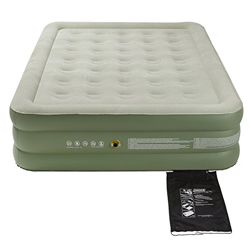 41RFQQGFiAL. SS500  - Coleman Airbed Maxi Comfort Bed Raised King, Camping Mat, Flocked Air Bed, Inflatable Double Height Air Mattress, Blow…