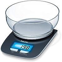 Beurer KS 25 Bilancia da Cucina Digitale, 1.2 Litri, Legno, Nero, elettrica