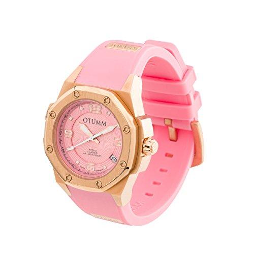 OTUMM Speed Classic 07368 Damen-Armbanduhr – 39mm (analog) – Rosgold-Pink
