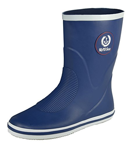 MADSea Herren & Damen Gummistiefel Classic Low - blau, Größe:39 EU