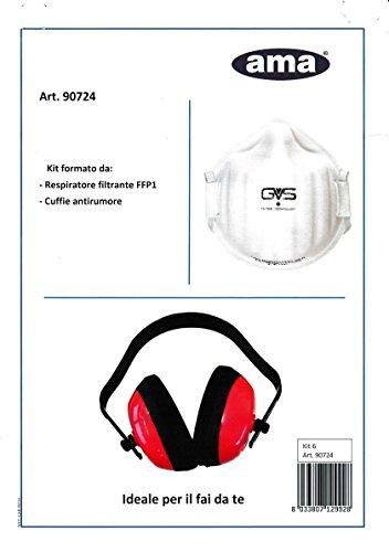 Preisvergleich Produktbild Kit Atemregler filtrante-cuffia Geräuschreduzierung für Heimwerker-Ama