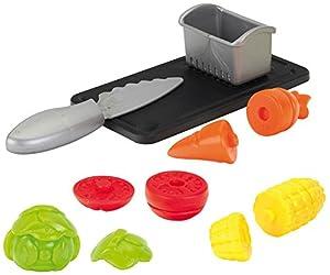 Theo Klein-9101 Conjunto de verduras con tabla de cortar y colador, juguete, Multicolor (9101)