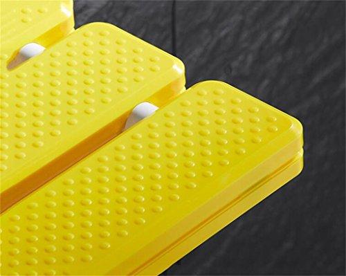 Yff sgabello da bagno bagno giallo abs antiscivolo sedia da bagno