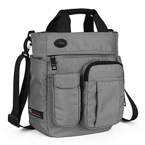 """AlwaySky Herren Umhängetasche, multifunktionale Messenger Bag, Laptop Handtaschen Tasche für Männer und Frauen College School Business Sport Reisen Gray 30 * 25 * 11 cm/11.8\""""*9.8\""""*4.3\"""" (Grau)"""
