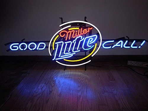 miller-lite-good-call-neon-sign-24x20-inches-bright-neon-light-display-mancave-beer-bar-pub-garage-n