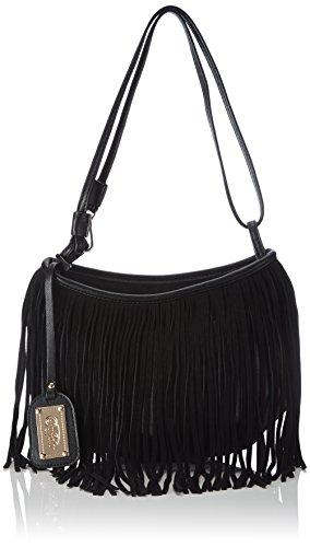 Buffalo Damen BAG 550884 PU Umhängetaschen, Schwarz (Black 01), 30x24x8 cm