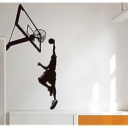MYVINILO - Vinilo decorativo - Slam dunk / negro (50x100cm)