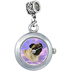 Timest - Pug reloj para el collar o pulsera Analógico Cuarzo EBA00096