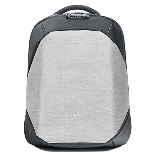 ClickPack Rucksack Design von Korin, Business Laptop Rucksäcke Anti Thief Travel Bag passt bis zu 15,4 Zoll Macbook (Rucksack nur, grau) 15.4 Im Laptop