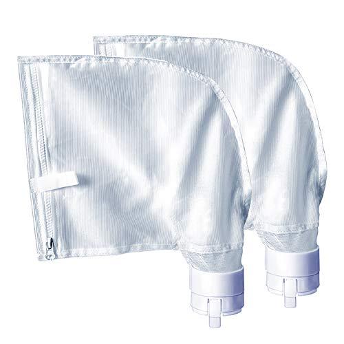 HKDE outdoor Zippered Bag Ersatz passend für Polaris 360, 380 Pool Cleaner Allzweckfilterbeutel für Polarisfilterbeutel 2 Stück