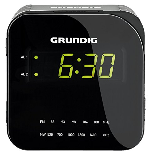 Grundig Sonoclock 590 Uhrenradio (LED-Display, UKW/MW-Tuner) schwarz/silber