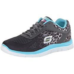 Skechers Flex AppealSerengeti 11878, Sneaker Donna, Gris - Grau (CCLB), 38