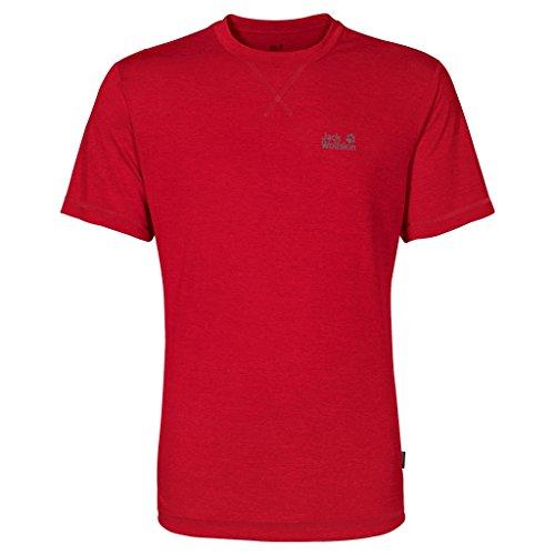 Jack Wolfskin Herren Shirt Crosstrail T rot (500)