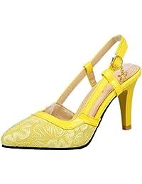 Chicmark Dress Closed Toe Sandalen mit Hohem Absatz Slingback Schuhe für  Hochzeit b53e14e60e