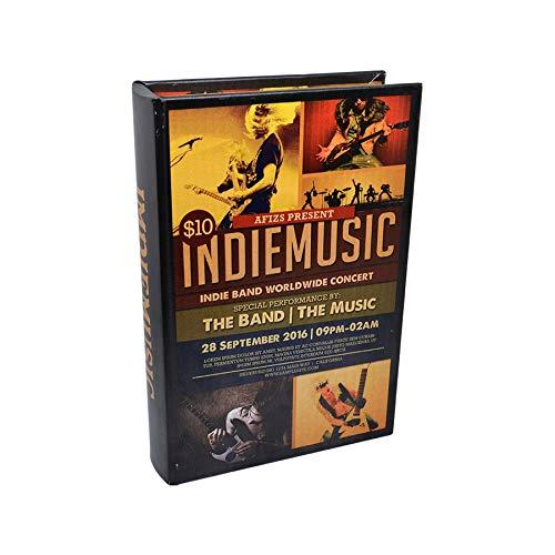 Art Deco Home Libro-Caja Fuerte Indie Music 16x5x24cm