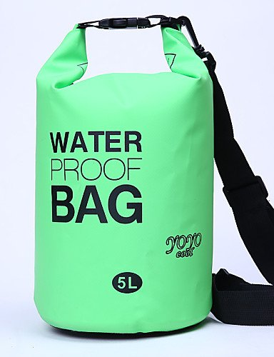 HWB/ 5 L Wasserdichte Dry Bag Camping & Wandern / Radsport Outdoor Wasserdicht / Kompakt Gelb / Grün / Rot / Grau / Schwarz / Blau PVC other Black