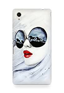 Amez designer printed 3d premium high quality back case cover for Sony Xperia M4 (Wild Girl)