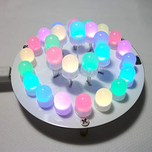 Qiman Diy Kit Creative 51 SCM DIY Elektronische Design-Suite: Touch Control Key Vollfarb-LED Aurora Turm/Licht Würfel DIY Elektronische Kits