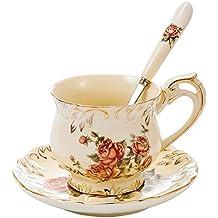 Panbado Servicios de café de Marfil porcelana,taza de café con 250 ml de la