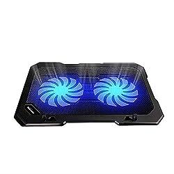 TopMate C302 Laptop Kühler Kühlung Pad, Ultra dünn tragbar 2 Leiser 14 cm Große Fans 1000 RPM mit USB-Linie Eingebaut Notebook-Kühlung Lüfter für 10-15.6 Zoll Laptop, Einfach zu Bedienen