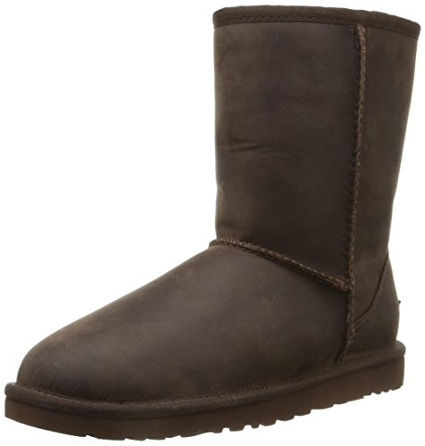 ugg-classic-short-leather-botas-para-mujer-color-marron-talla-40