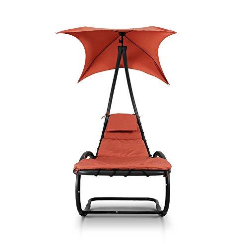 iKayaa Hammock Rocking Bed Lounger - Orange
