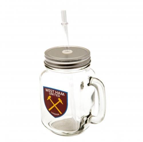west-ham-mason-jar-500ml-straw-summer-cocktail-screw-lids-glass-gift-merchandise