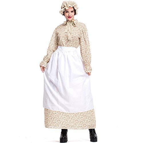 Mann Kostüm Kolonial - NiQiShangMao Kolonial Pioneer Kostüm für Frauen Prairie Kleid Wolf Großmutter Cosplay Halloween Party Karneval Kostüme