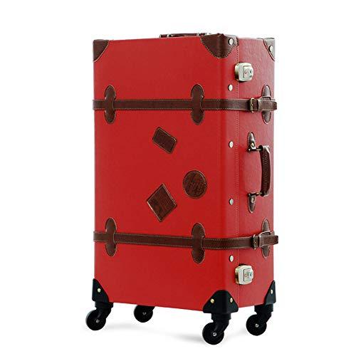 XDD Retro Gepäck Koffer für Frauen und Männer 26-Zoll-Handgepäck Leichte Spinner Gepäck für Reisen Urlaubsreise oder den täglichen Gebrauch Hardshell Reisetasche -