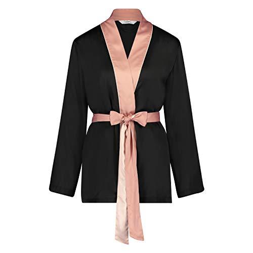 HUNKEMÖLLER Femme Veste de Pyjama Satin Nightshade Doutzen Bronzage M/L