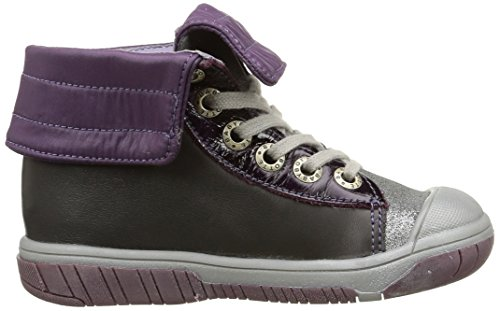 Babybotte Artiski2, Mädchen Hohe Sneakers Grau (412 Gris/violet)