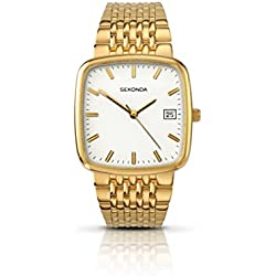 Sekonda Model 3619.27 Gents Gold Plated Analogue Bracelet Watch