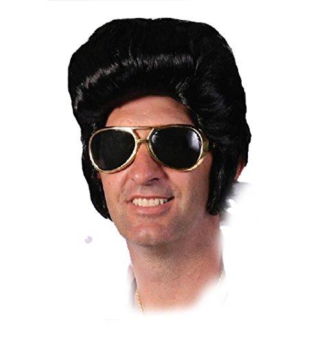 tar Perücke und Koteletten Fancy Kleid Erwachsene Pop King Elvis Perücke (Herren Fett Kostüme)