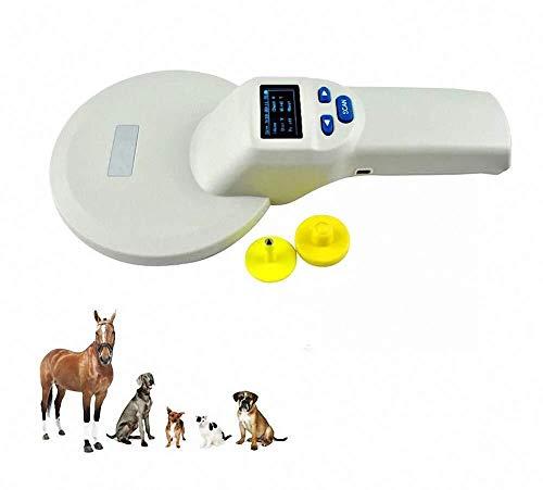 Escáner de microchips for mascotas, lector de mano RFID EMID, escáner de identificación de mascotas recargable a 134.2 kHz for mascotas, escáner de chip animal, escáner de etiquetas for mascotas FDX-B