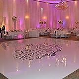 Olivialulu Vinyle De Mariage Stickers Muraux Banquet De Mariage Autocollant Mural De Sol De Danse Sticker De Mur Personnalisé Couple Noms Floor Art Décoration Az106...