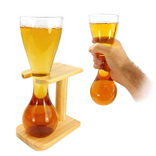 Tuff-Luv Quarter Yard Of Beer / Lager Ale With with Stand (Stag Gift Novelty) Glass