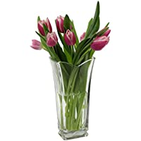 "Bormioli Rocco Italian glass ""Vinciana"" flower vase"