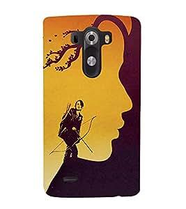 FUSON Woman Archer Against Storm 3D Hard Polycarbonate Designer Back Case Cover for LG G3 :: LG G3 Dual LTE :: LG G3 D855 D850 D851 D852