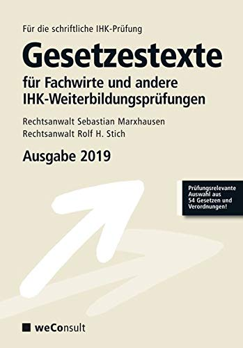 Gesetzestexte für Fachwirte Ausgabe 2019
